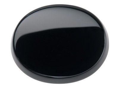 Onyx, Flaches Oval, 10x8mm