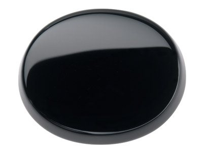 Onyx, Flaches Oval, 16x12mm