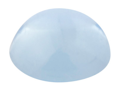 Sky Blue Topas, Runder Cabochon, 4mm, Behandelt