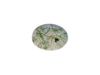 Moosachat Ovaler Cabochon 8x6mm