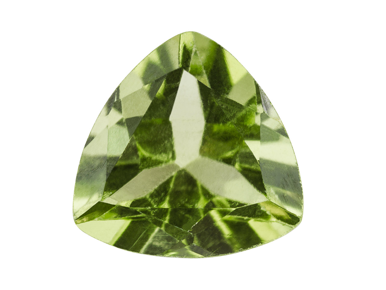 Peridot, Trillion, 6 mm