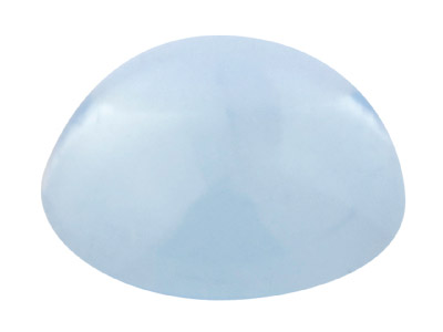 Sky Blue Topas, Runder Cabochon, 5mm, Behandelt