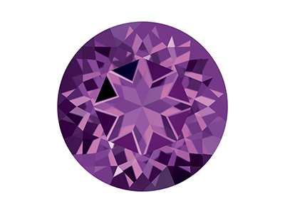 Swarovski Topas, Natural Brilliance Schliff, 2,00mm, Violett