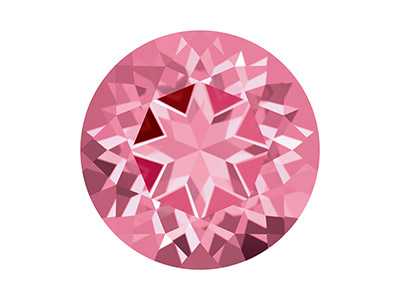 Swarovski Topas, Natural Brilliance Schliff, 4,00mm, Rosa