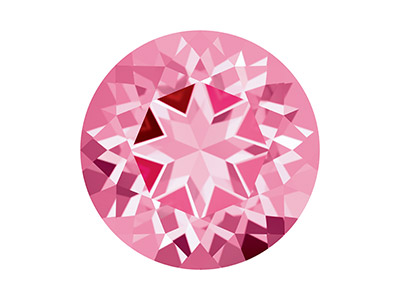 Swarovski Topas, Natural Brilliance Schliff, 6,00mm, Rosa