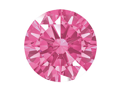 Swarovski Zirconia , Pure Brilliance Rundschliff, 3,00mm, Rosa