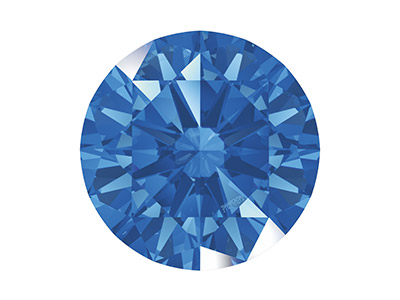 Swarovski Zirconia , Pure Brilliance Rundschliff, 5,00mm, Fancy Blue