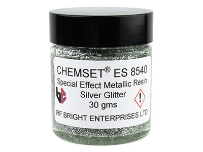 Epoxidemaille, Un3082, 30-g-paste, Glitterfarbe Metallic-silber