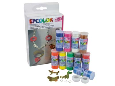Efcolor Emaille-starter-kit Mit 10x 10-ml-dosen