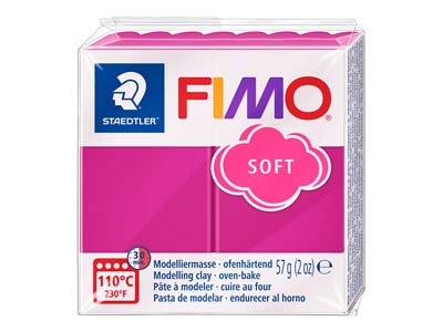Fimosoft, 57-g-block, Himbeere, Fimo Farbe Nr. 22