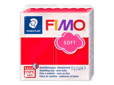Fimosoft, 57-g-block, Indischrot, Fimo Farbe Nr. 24