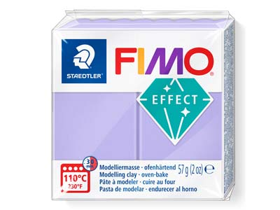 Fimoeffect Pastellfarbe Flieder 57gblock Fimo Farbe Nr.605