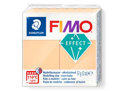 Fimo Effect Peach 57g Polymer Clay Block Fimo Colour Reference 405