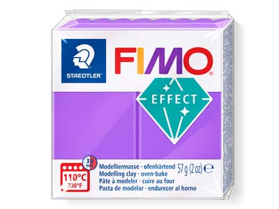 Fimo Effect Lilac Translucent 57g Polymer Clay Block Fimo Colour Reference 604