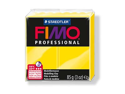 Fimo Professional Yellow 85g Polymer Clay Block Fimo Colour Reference 100