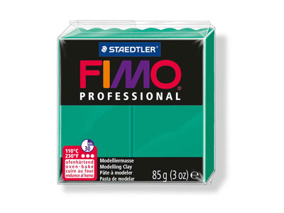 Fimo Professional Green 85g Polymer Clay Block Fimo Colour Reference 500