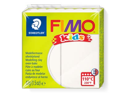 Fimo Kids Polymer-modelliermasse, Wei, 42-g-block, Fimo-farbe Nr.0