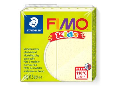 Fimo Kids Polymer-modelliermasse, Gelb, 42-g-block, Fimo-farbe Nr.1
