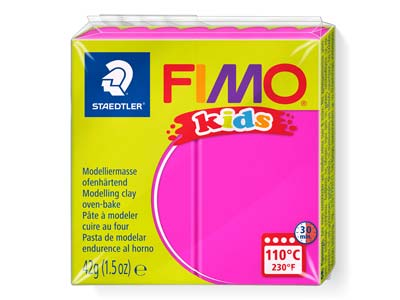 Fimo Kids Polymer-modelliermasse, Pink, 42-g-block, Fimo-farbe Nr.220