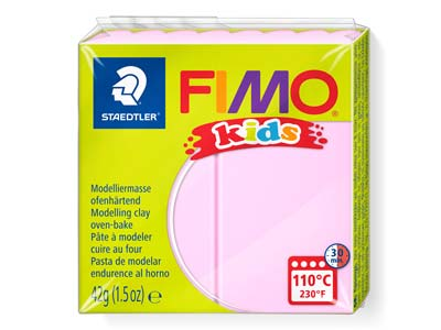 Fimo Kids Polymer-modelliermasse, Rosa, 42-g-block, Fimo-farbe Nr.25