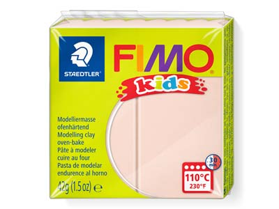 Fimo Kids Polymer-modelliermasse, Haut Hell, 42-g-block, Fimo-farbe Nr.43
