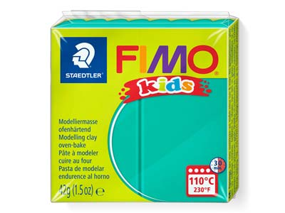 Fimo Kids Polymer-modelliermasse, Grün, 42-g-block, Fimo-farbe Nr.5