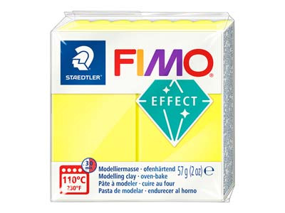 Fimo Effect, 57g, Polymer-modelliermasse, Block, Fimo-farbreferenz 101 - Neon-gelb