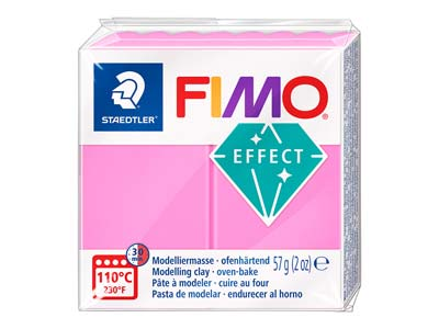 Fimo Effect, 57g, Polymer-modelliermasse, Block, Fimo-farbreferenz 201 - Neon-rosa