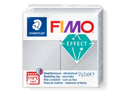 Fimoeffect 57gblock Silber Hell Fimo Farbe Nr. 817