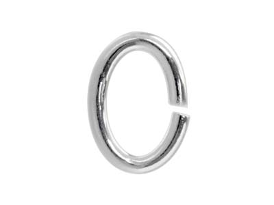 Biegering Oval 20er Pack 4mm Sterlingsilber
