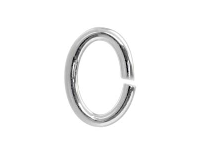 Biegering Sterlingsilber Oval 6mm 20er Pack
