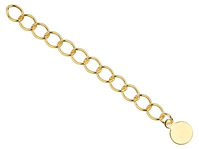 Gold Pltd 4.5mm Fancy Extension Chain Rnd Dropper Pk 5