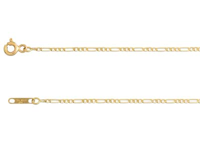 Coll Maille Alt 13 Ultra Plate 16mm Or Jaune 18k 40cm Ar