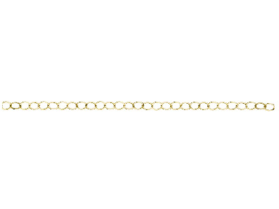 Gliederkette 12kt Goldfilled Flach Runde Glieder 36mm Lose