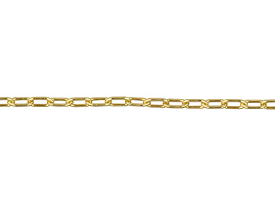 Gliederkette, 14kt Goldfilled, Fein, 1,1x2,3mm, Lose
