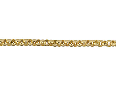 Gliederkette, 14kt Goldfilled, 2mm, Lose